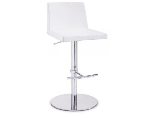 Salton Modern White Bar Stool