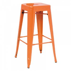 T-5046 – Modern Orange Metal Barstool