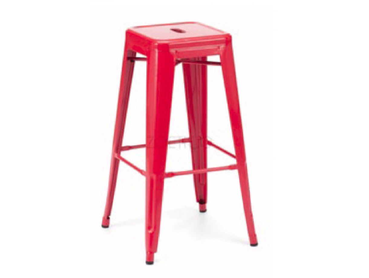 T-5046 – Modern Red Metal Barstool