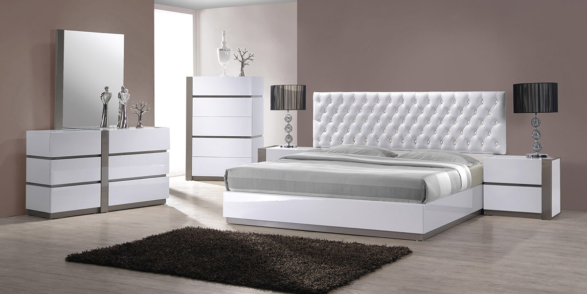 Vero White 4pc Bedroom Set | Las Vegas Furniture Store | Modern ...