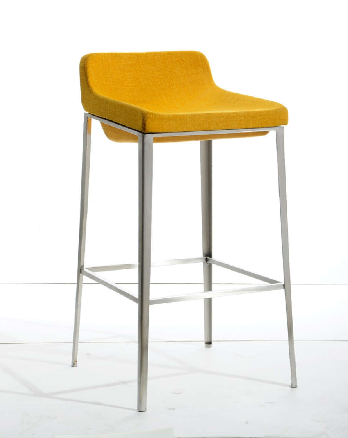 Adhil yellow fabric bar stool las vegas furniture store modern