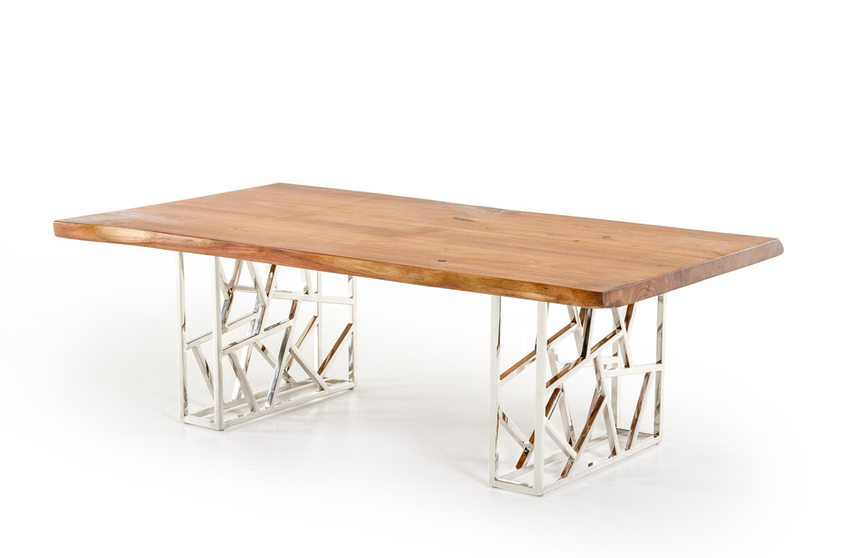 Acorn Modern Live Edge Wood Coffee Table Las Vegas