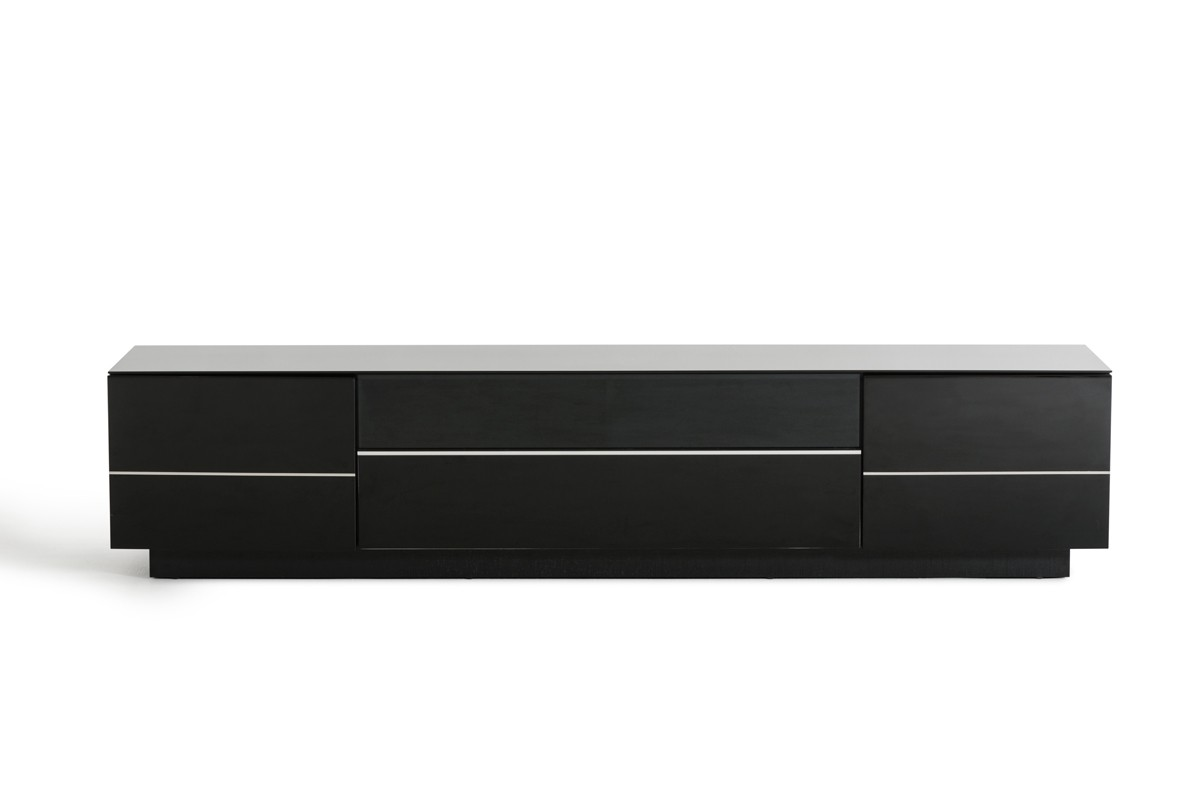 Caeden Contemporary Black High Gloss TV Stand : Las Vegas Furniture Store : Modern Home ...