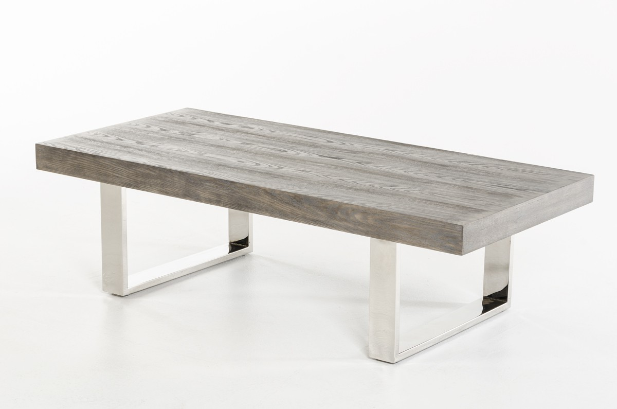 Lola Modern Grey Brush Coffee Table