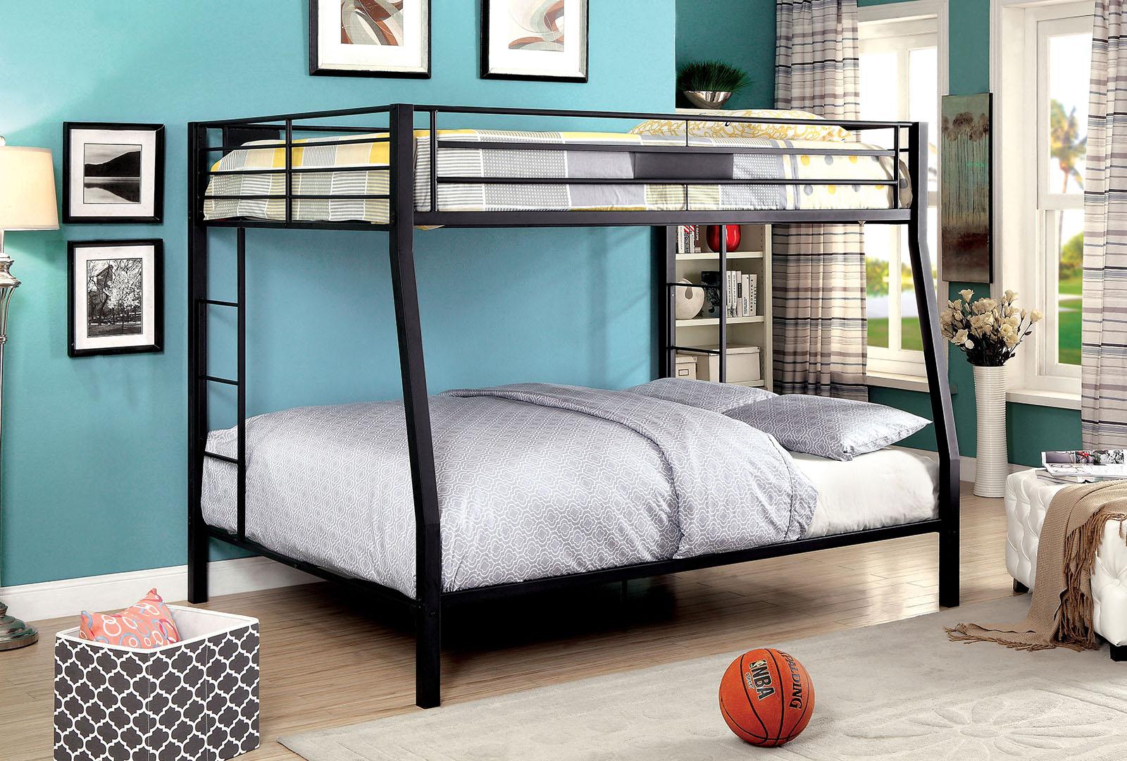 Picture of: Claren Full Queen Bunk Bed Las Vegas Furniture Store Modern Home Furniture Cornerstone Furniture