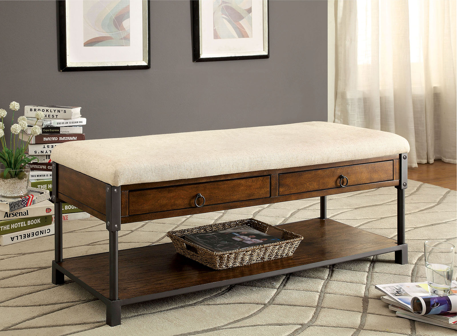 Byron Bench Las Vegas Furniture Store Modern Home