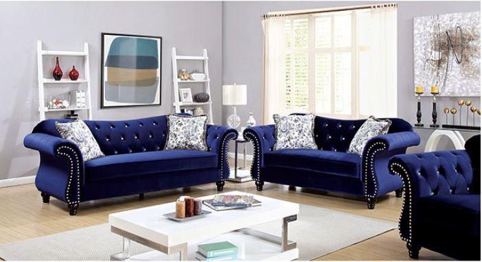 Jolanda Blue Living Room Las Vegas Furniture Store