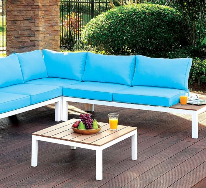 Winona Patio Sectional W Ottoman Las Vegas Furniture Store Modern Home Furniture