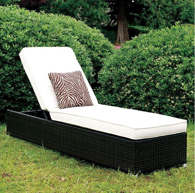 Patio Furniture Stores Las Vegas: Albee II White Patio Chaise W/ Pillow