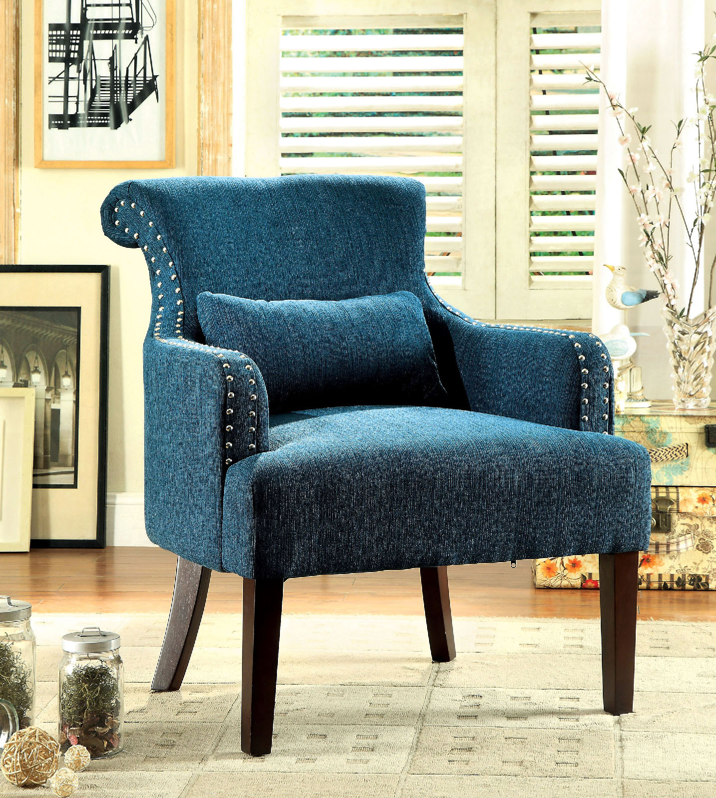 Agalva Fabric Accent Chair Las Vegas Furniture Store