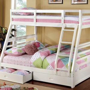 California Twin/Full Bunk Bed w/ Trundle