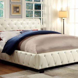 Juilliard Ivory Bed w/Bluetooth Speakers