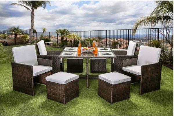 Keisha 9 Pc Patio Dining Set Las Vegas Furniture Store