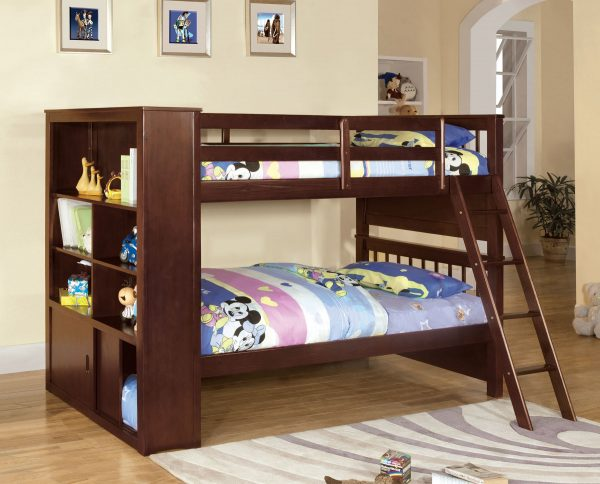 Hayden Twin Twin Bookcase Bunk Bed