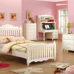 Adriana White Finish Twin Bedroom Set