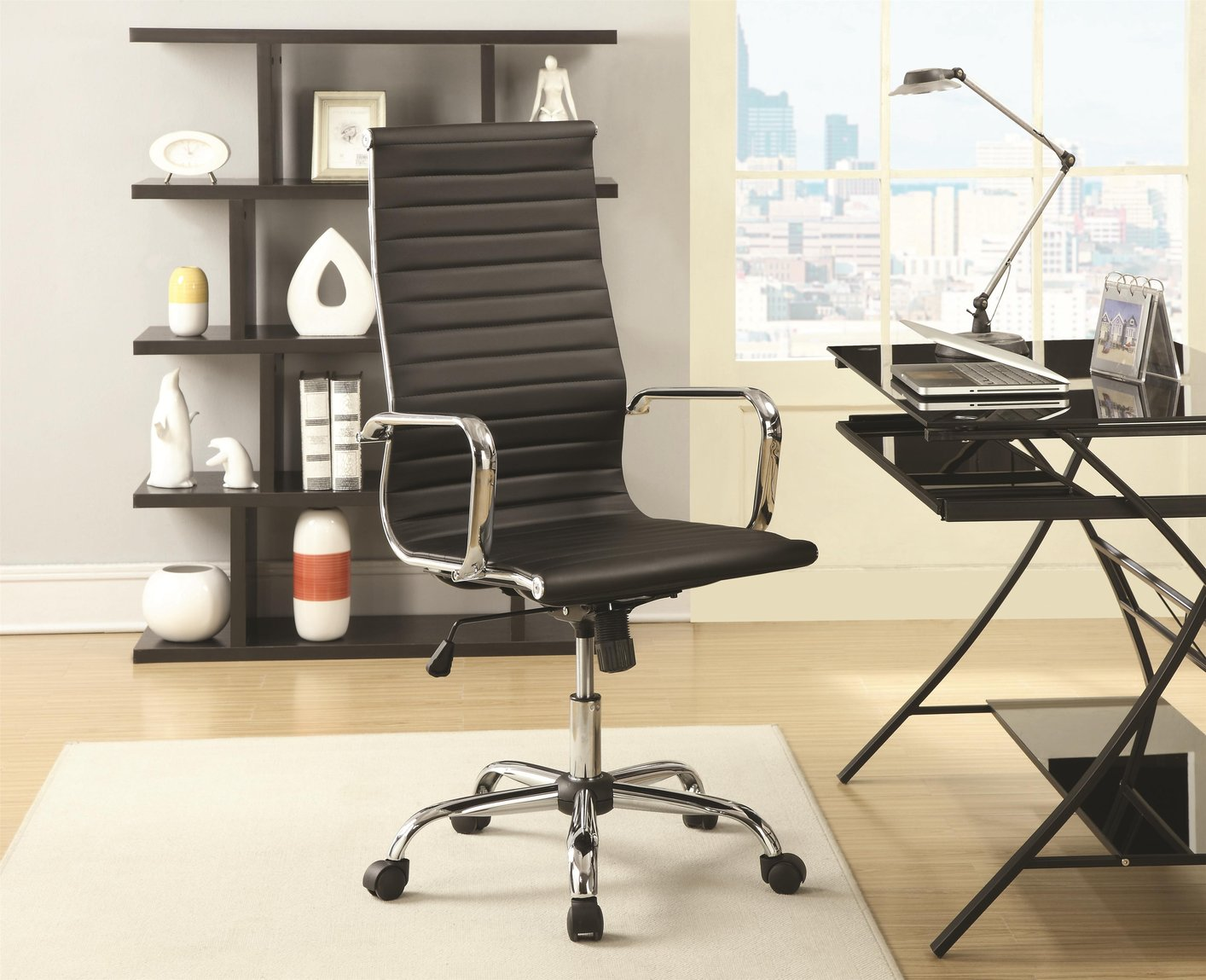 Tony Black Office Chair Las Vegas Furniture Store