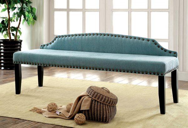 Hasselt Blue Linen Bench