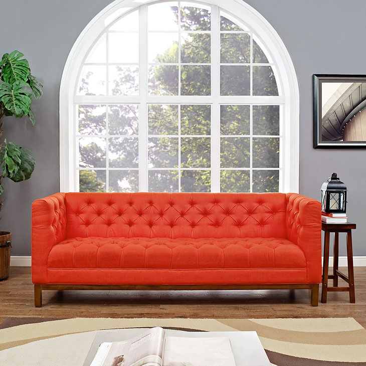 Panache Fabric Tufted Sofa