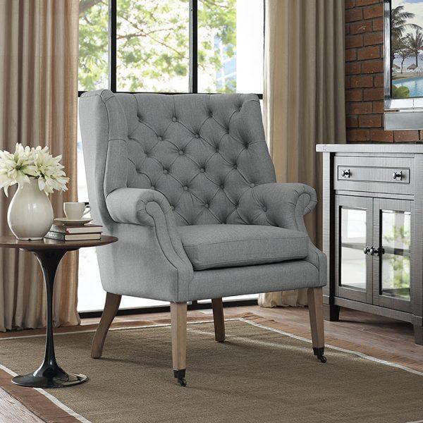 Chart Fabric Lounge Chair