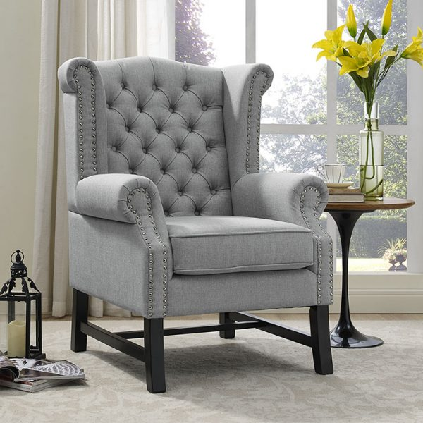 Steer Fabric Arm Chair