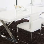 alexa white lacquer dining table