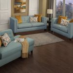 candid teal blue living room