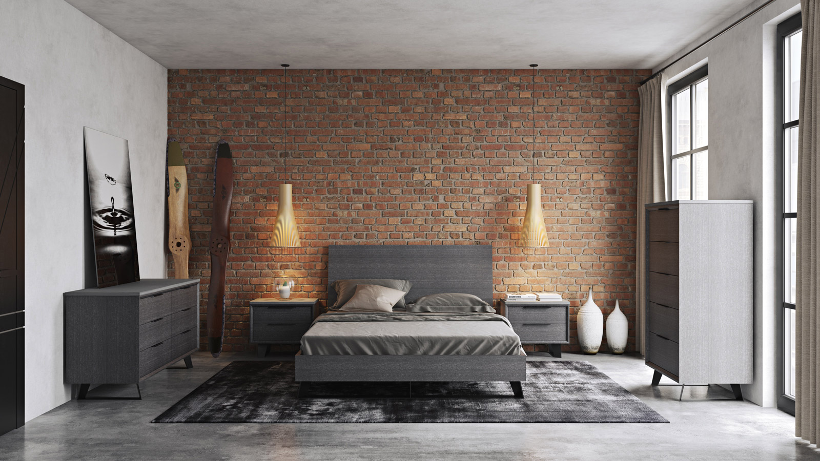 Amsterdam Grey Bedroom Collection