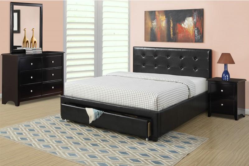 Superb Espresso Bedroom Set With Under Drawer For Extra Storage Dailytribune Chair Design For Home Dailytribuneorg