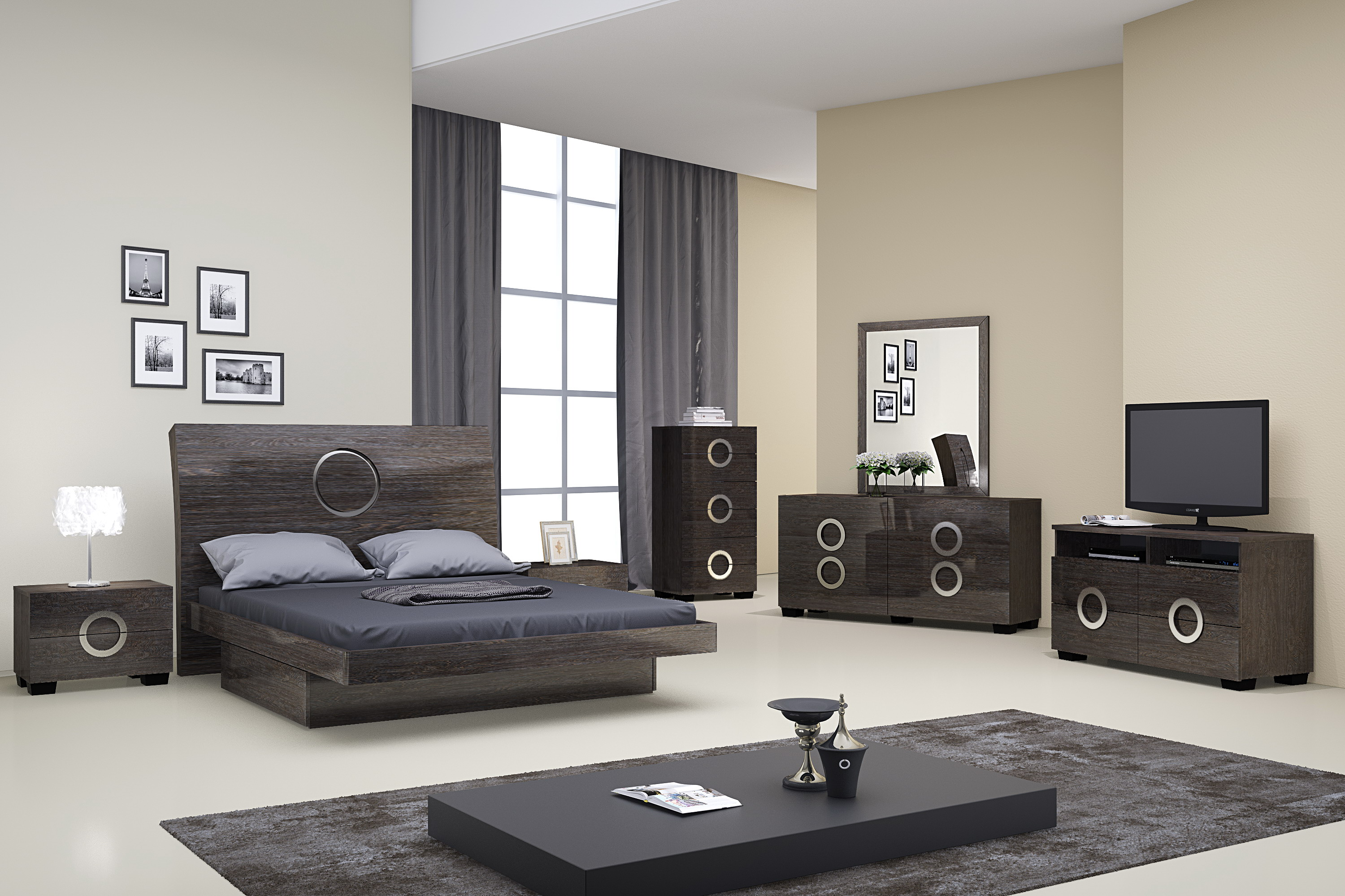 Monte Carlo Grey Lacquer Bedroom Set Las Vegas Furniture Store Modern Home Furniture