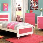 alivia pink and white bedroom set
