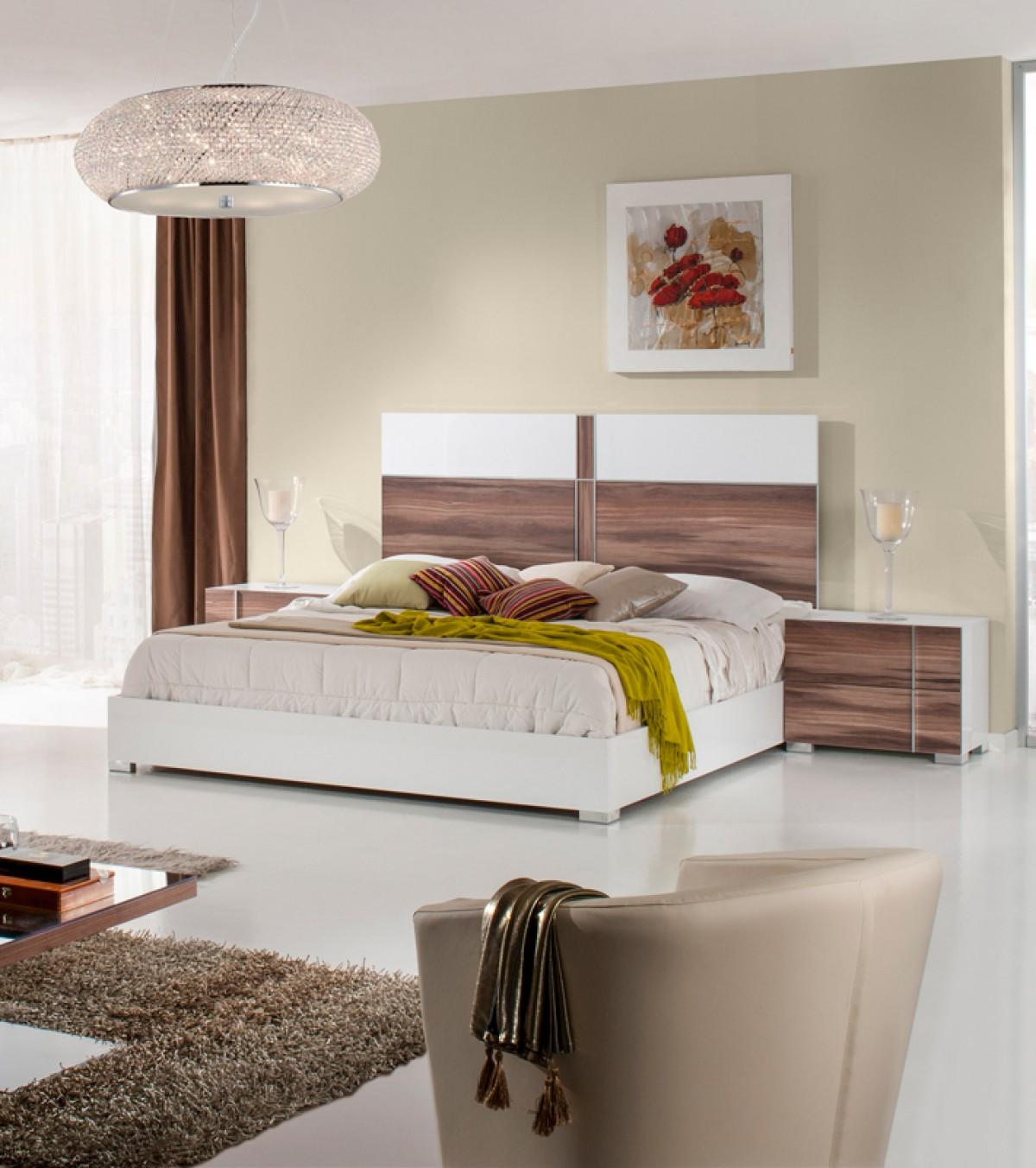 Domus Giovanna Italian White Cherry Bed Las Vegas