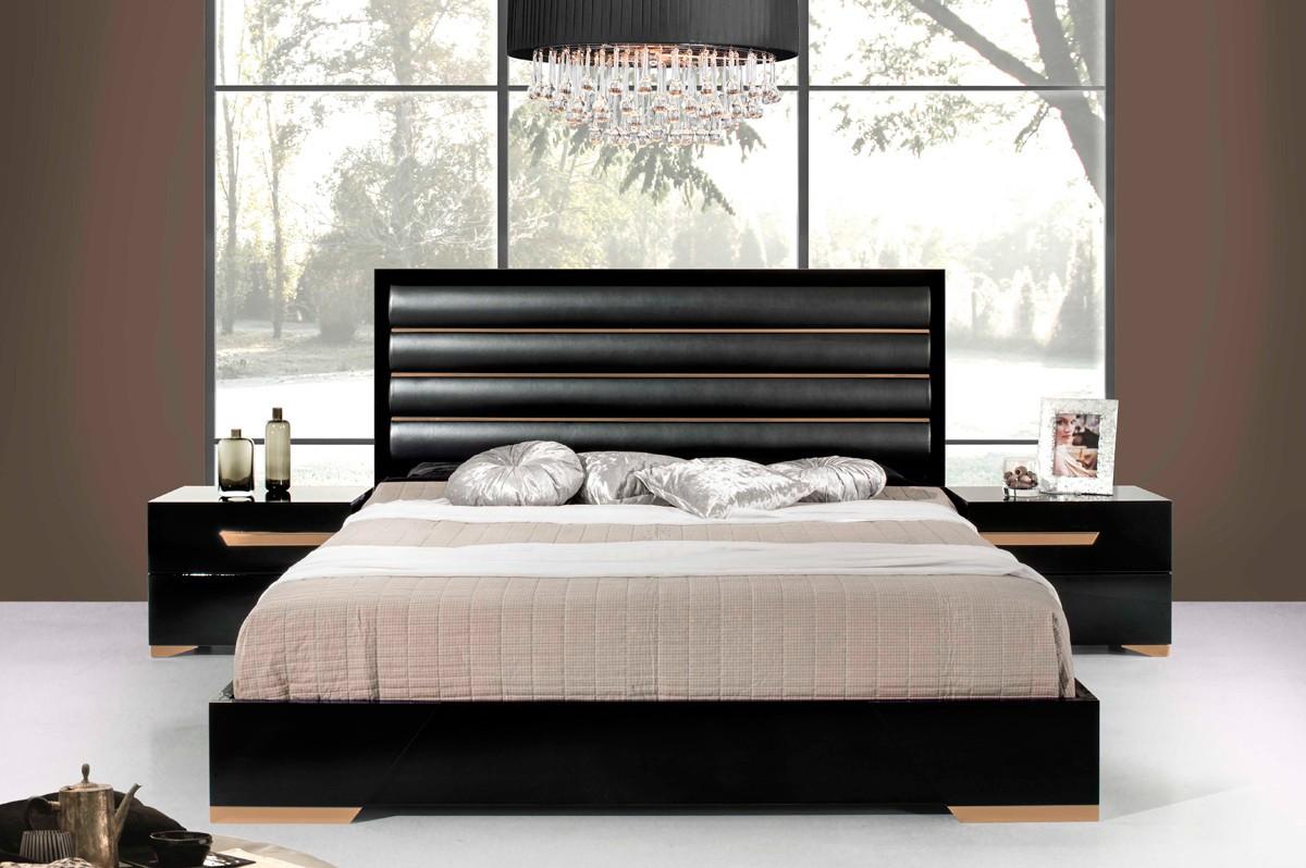 Domus Romeo Italian Black Amp Rosegold Bed Las Vegas