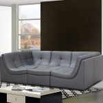 Cleo Bonded Leather Module Sectional