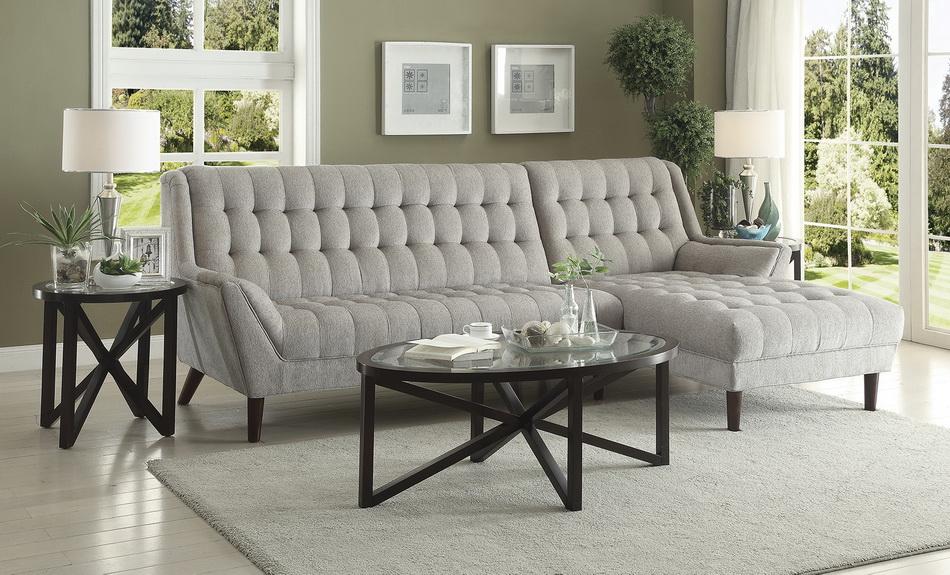 Natalia Dover Grey Sectional Las Vegas Furniture Store