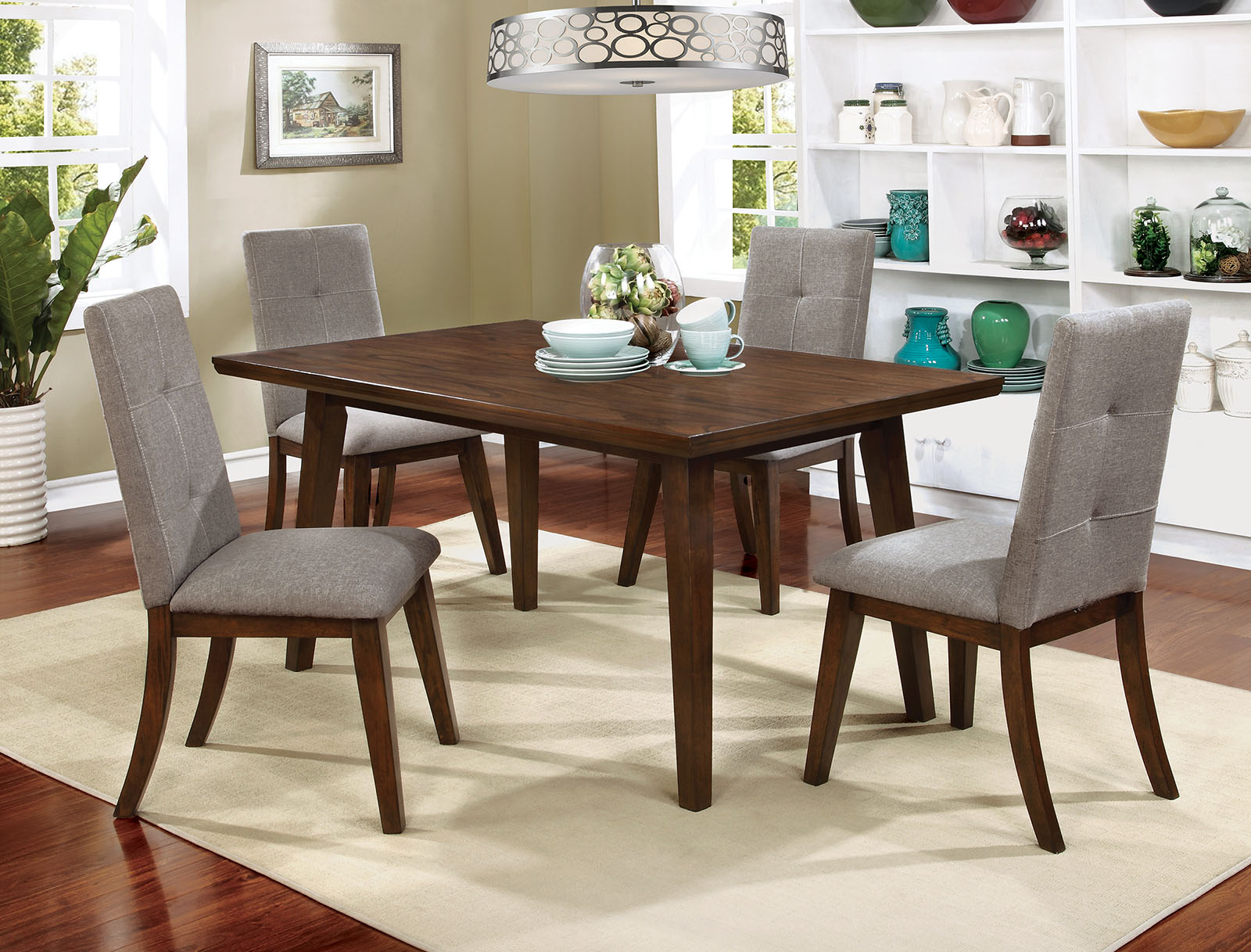 Furniture Of America Janell Dining Table In Gray 35 Dining Room Furniture Canal Dover