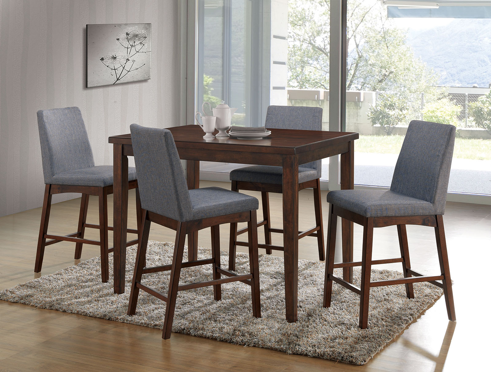 Picture of: Marten Mid Century Natural Tone Pub Table Collection Las Vegas Furniture Store Modern Home Furniture Cornerstone Furniture