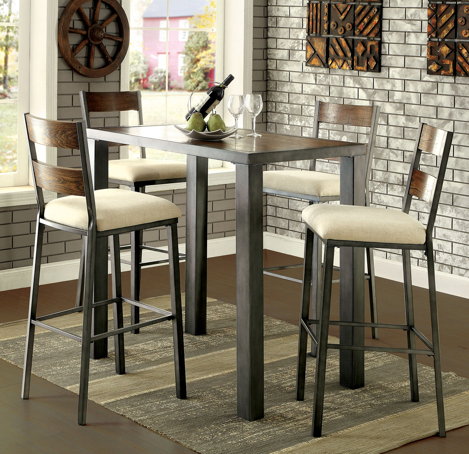 Jazlyn Ii Industrial Bar Table Collection Las Vegas