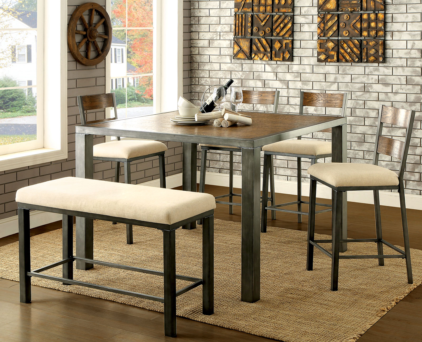 Jazlyn Ii Industrial Counter Height Table Collection