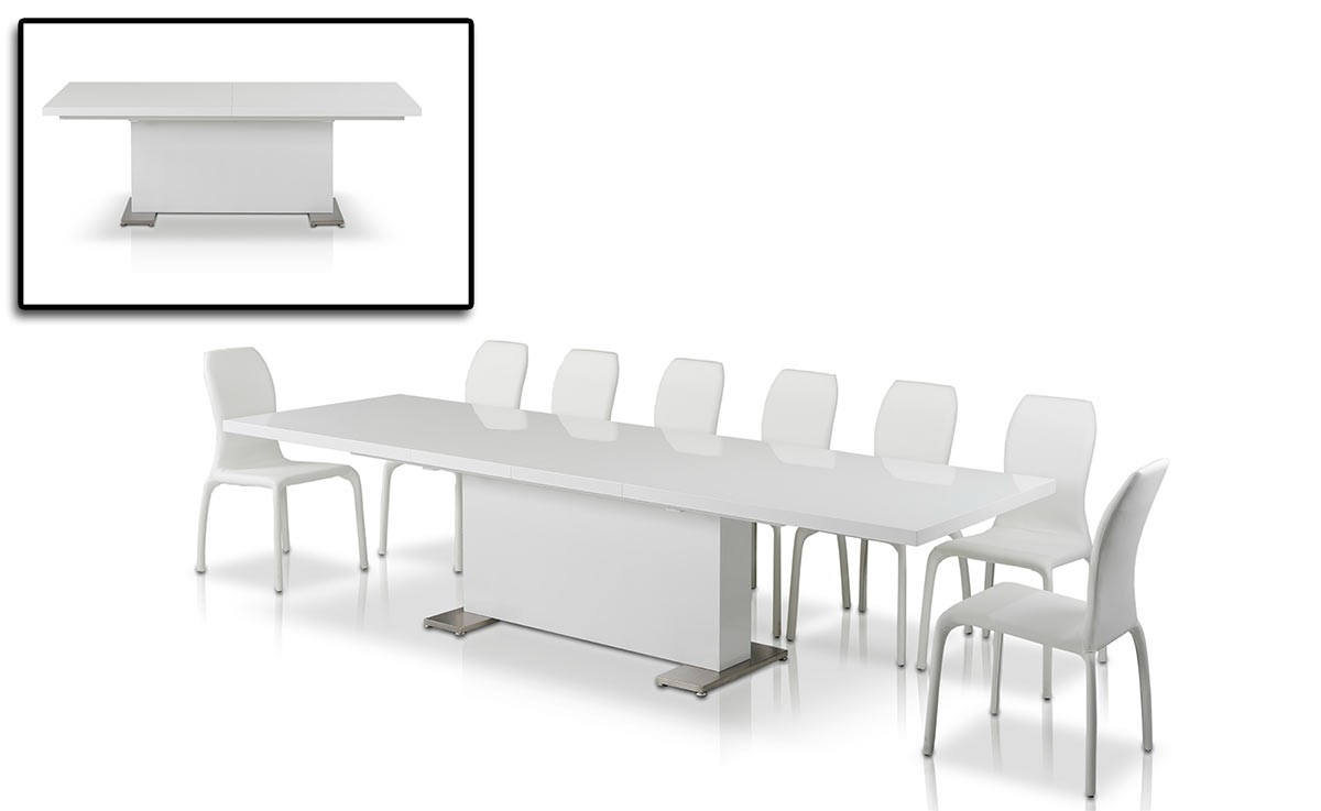 Bono white dining collection las vegas furniture store for Z furniture outlet las vegas