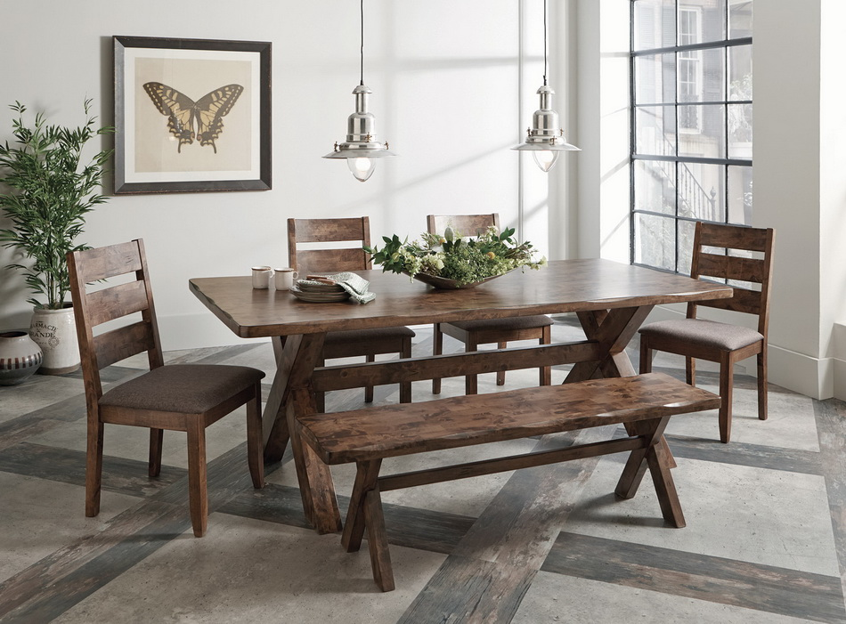 Strange Alston Rustic Dining Collection Andrewgaddart Wooden Chair Designs For Living Room Andrewgaddartcom