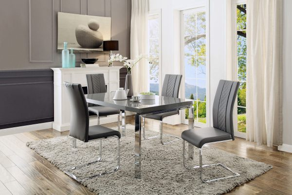 5430-60 grey lacquer dining set