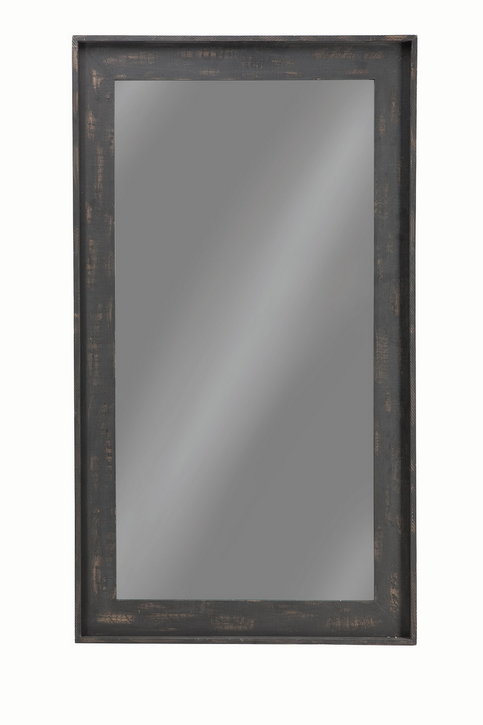 Distressed Black Large Floor Mirror Las Vegas Furniture