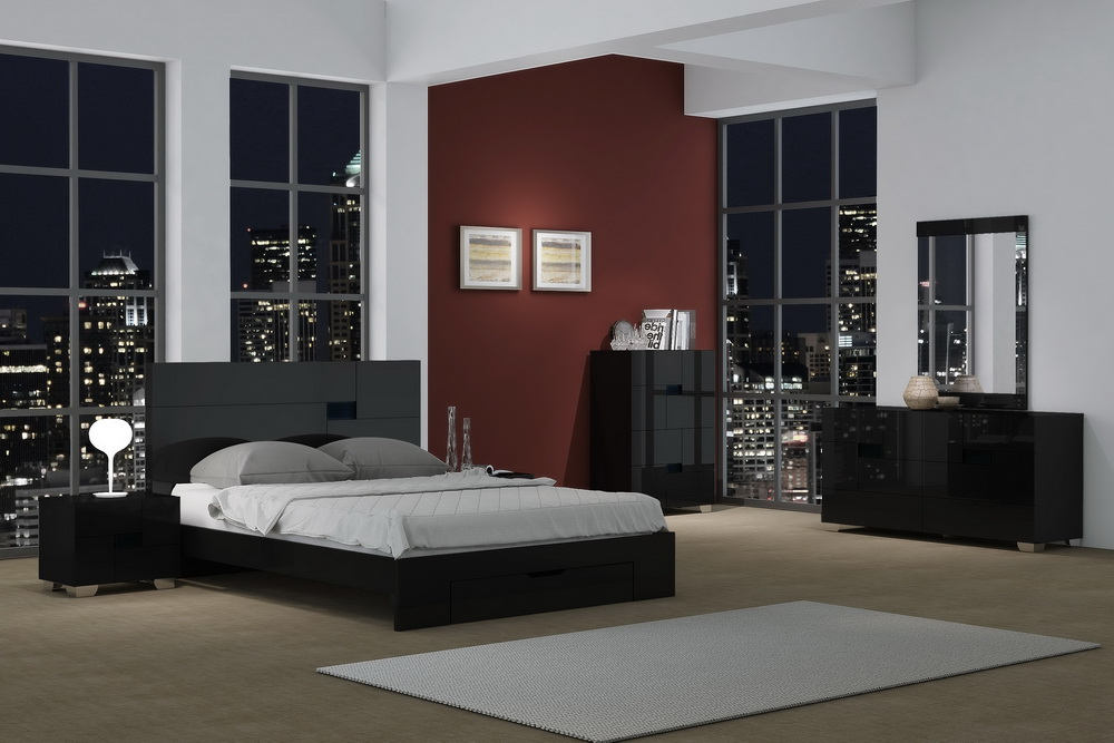 Aria Lacquer Bedroom Collection Las Vegas Furniture