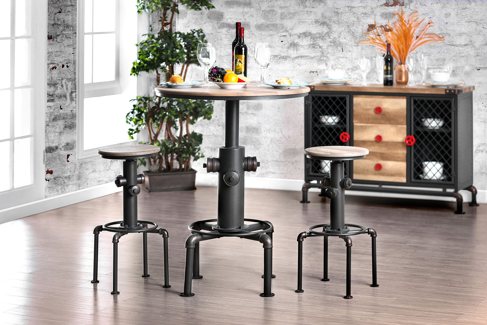 Foskey Industrial Collection Las Vegas Furniture Store Modern Home Furniture Cornerstone
