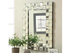 Checker Rectangular Wall Mirror