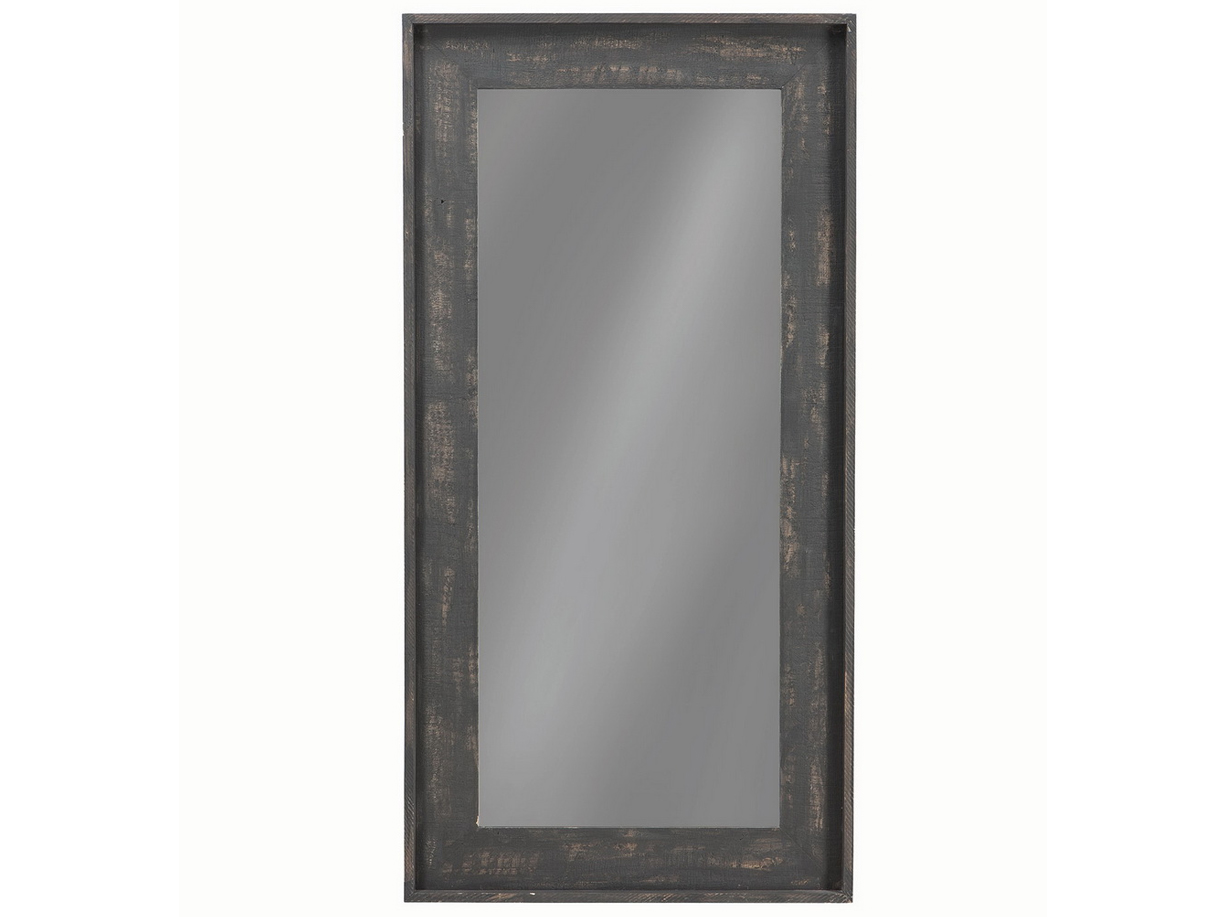 Distressed Black Floor Mirror Las Vegas Furniture Store