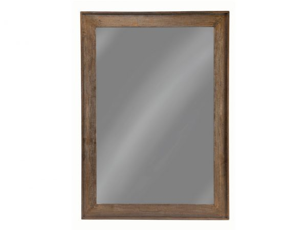 Distressed Brown Floor Mirror