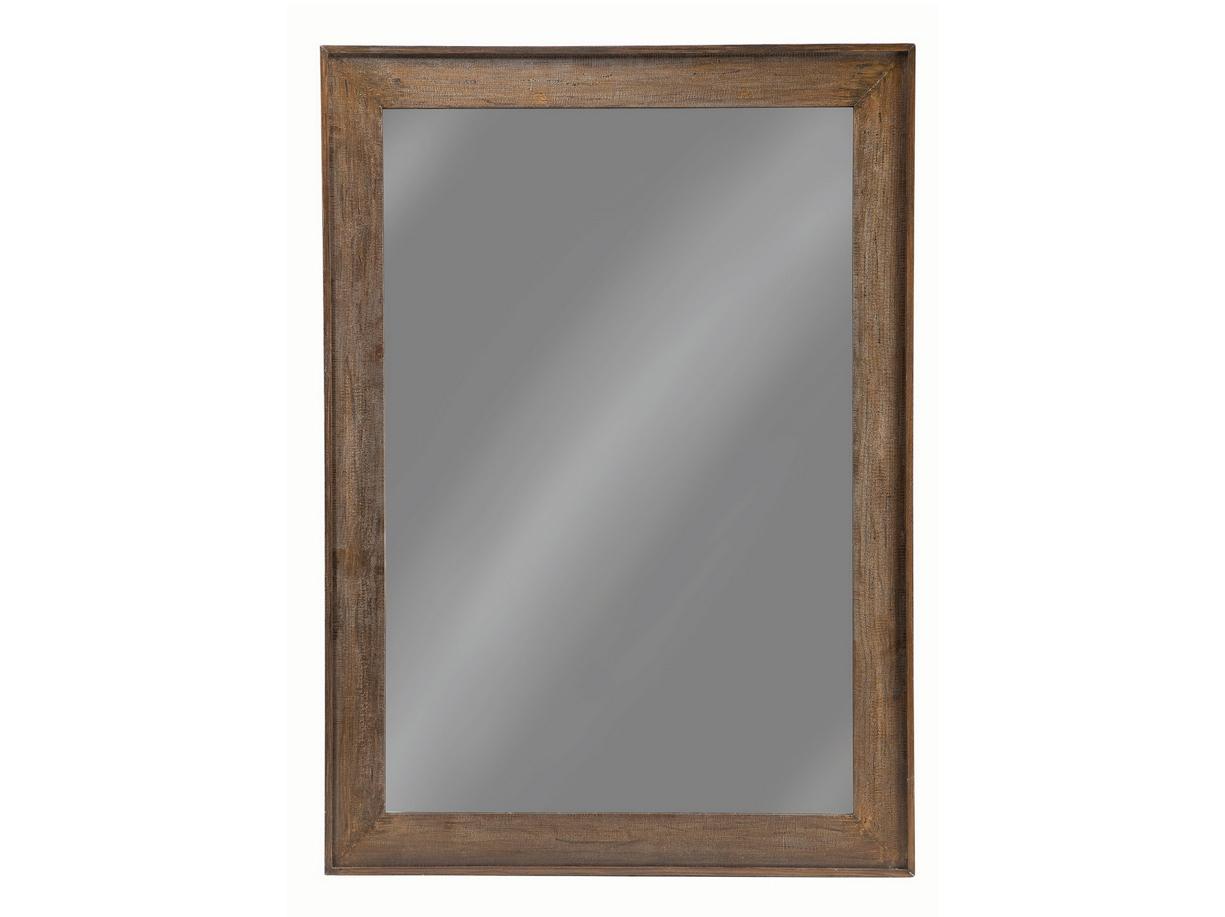Distressed Brown Floor Mirror