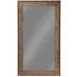 Distressed Brown Large Floor Mirror