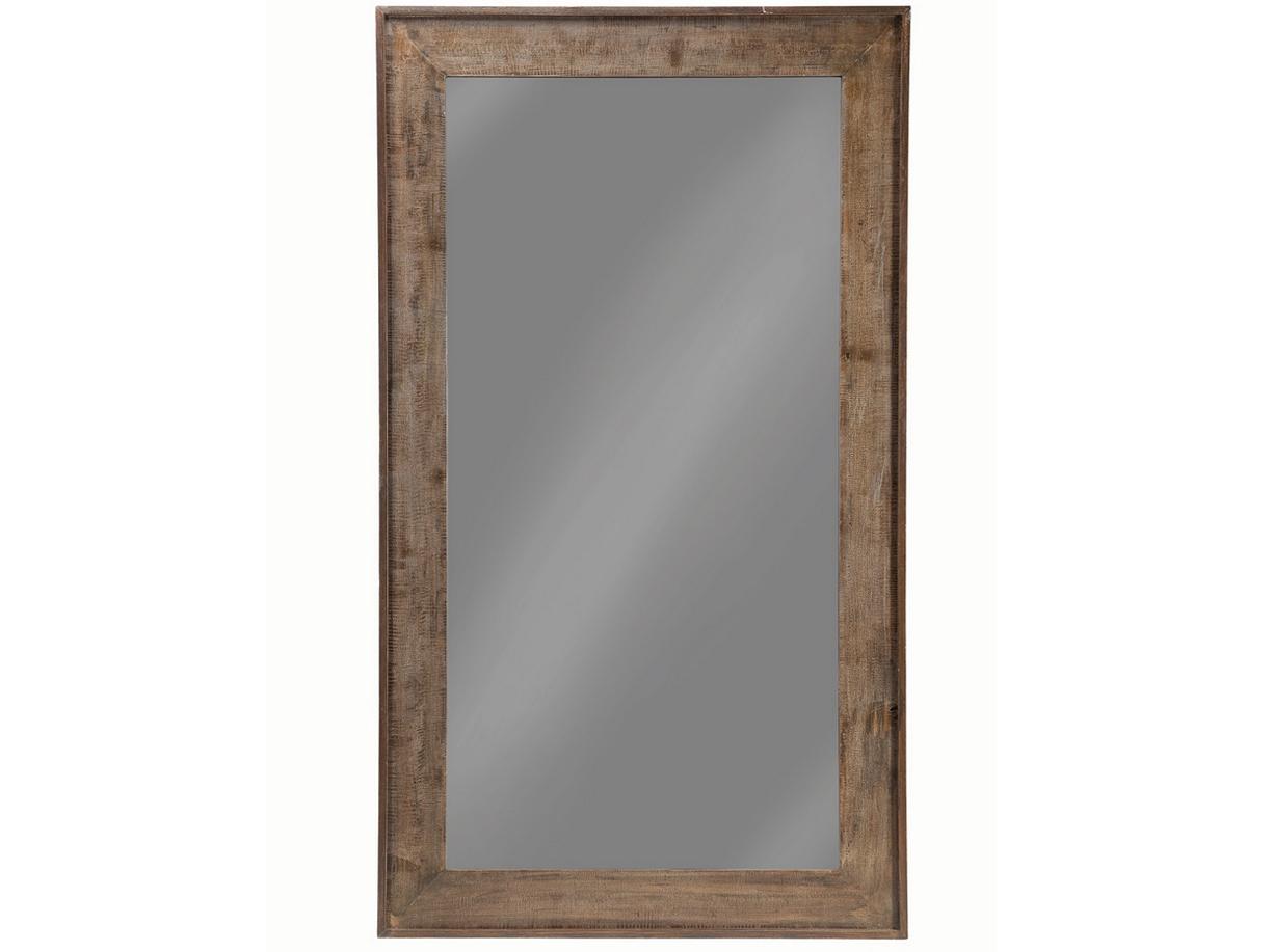 Distressed Brown Large Floor Mirror